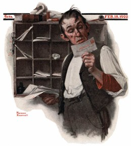 1922-02-18-Saturday-Evening-Post-Norman-Rockwell-cover-Postman-Reading-Mail-no-logo-400-Digimarc.jpg